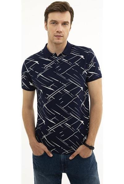 Pierre Cardin Lacivert Slim Fit T-Shirt 50226908-VR033