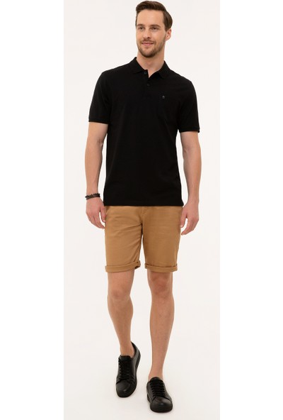 Pierre Cardin Siyah Regular Fit T-Shirt 50225513-VR046