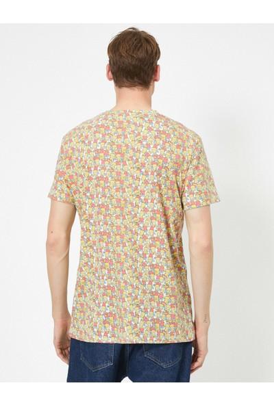 Koton Erkek Simpsons Lisanslı Baskılı T-Shirt