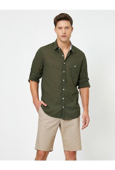 Koton Erkek Tek Cepli Uzun Kollu Gömlek
