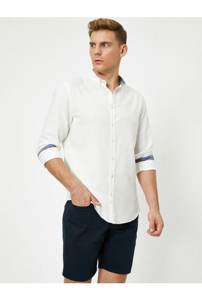 Koton Erkek Düğme Detaylı Gömlek