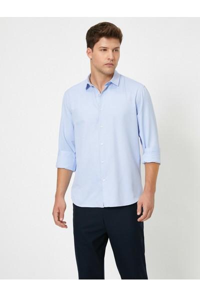Koton Erkek Klasik Yaka Uzun Kollu Gömlek