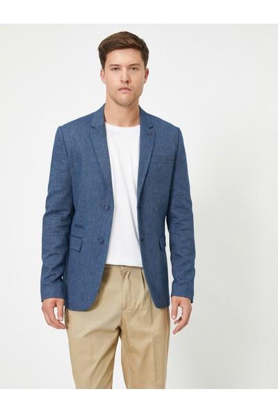 Koton Erkek Düğme Detaylı Cepli Spor Ceket