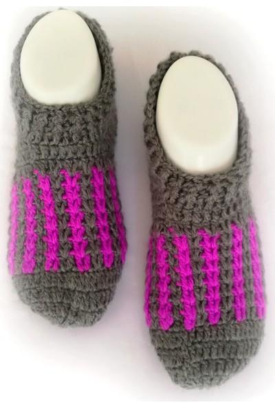 Nuh Home El Yapımı Kadın Patik Çorap-Kışlık El Yapımı Kadın Patik Çorap