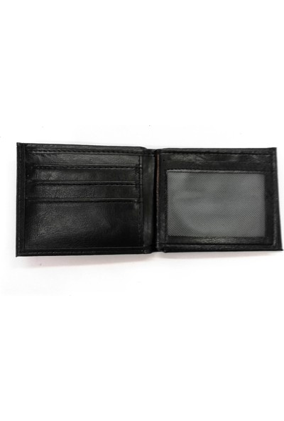 Cascades Leather Siyah Renk Yan Model 1 Erkek Cüzdan