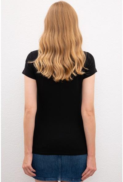 U.S. Polo Assn. Kadın T-Shirt Basic 50225760-VR046