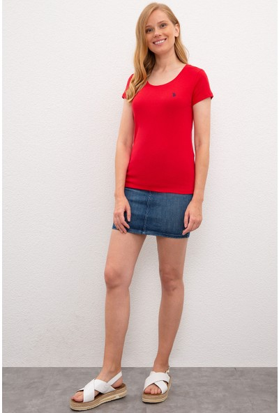 U.S. Polo Assn. Kadın T-Shirt Basic 50225760-VR030