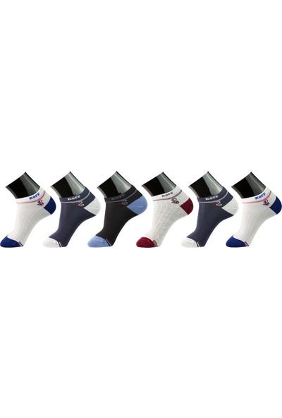 Roff Bamboo Erkek Patik Çorabı 6'lı Çok Renkli 40 - 45