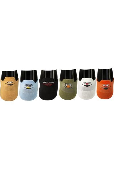 Roff Bamboo Kadın Patik Çorabı 6'lı Çok Renkli 36 - 40