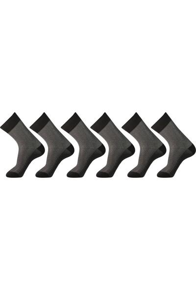 Roff Merserize Erkek Soket Çorabı 6'lı Siyah 40 - 45