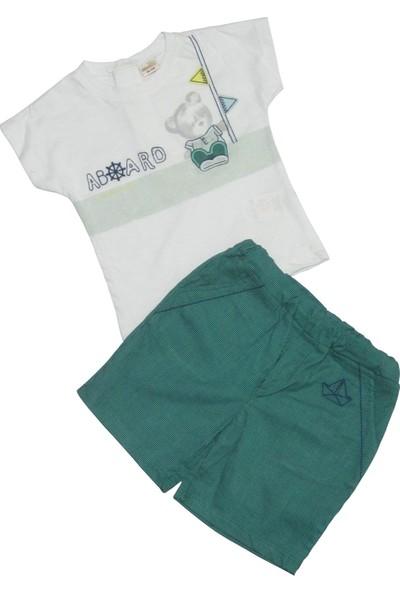 Mombi Yazlık Şort Tshirt Erkek Bebek Takım