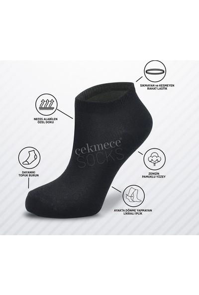 Çekmece 9'lu Unisex Pamuk Spor Patik Çorap