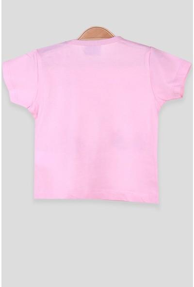 Breeze Kız Bebek T-Shirt Patlı Paten Baskılı Pembe