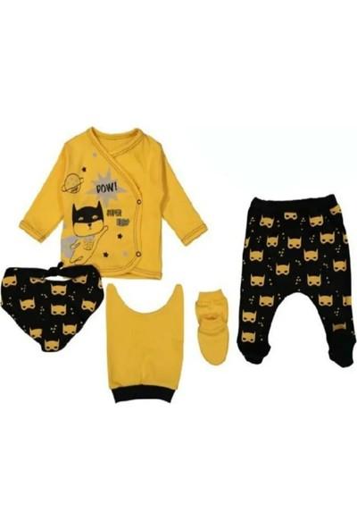 Mini Zeyn Süper Kahraman Sarı Erkek Bebek 5'li Hastane Çıkışı