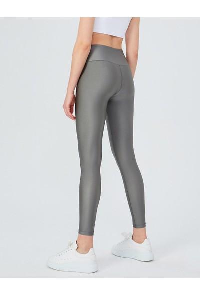 Miss Fit Silver Uzun Parlak Yüksek Bel Kadın Tayt Modeli