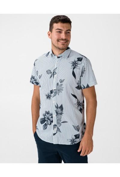 Jack & Jones Erkek Kısa Kollu Çiçek Desenli Gömlek 12173427