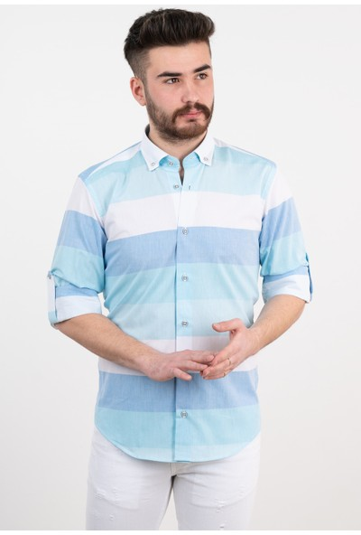 Bican Çizgili Gömlek