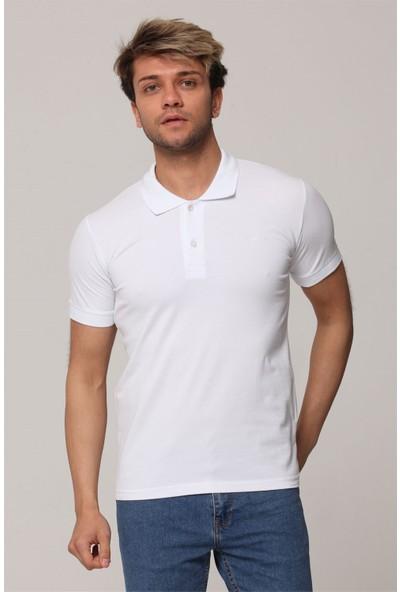 Tarz Cool Beyaz Polo Yaka T-Shirt - TARZPLBYZ001