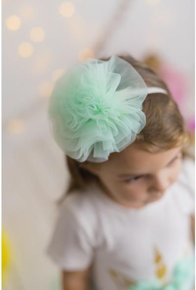 Pixy Love Mint Kız Çocuk Bandana Puffy