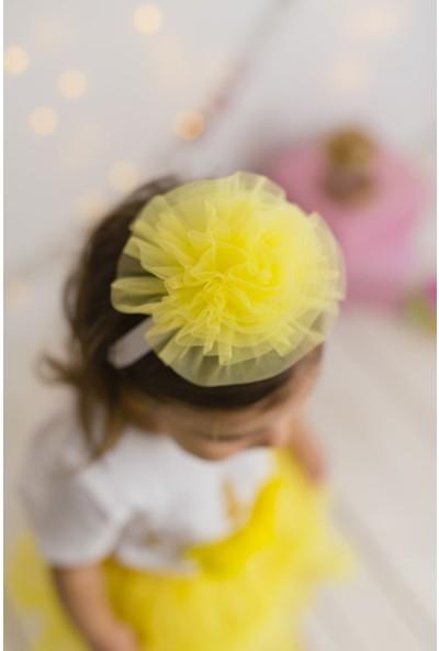 Pixy Love Sarı Kız Çocuk Bandana Puffy