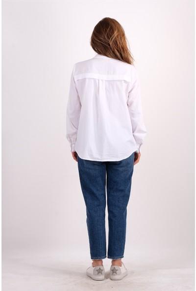 S.Y. Collection Beyaz Basic Gömlek