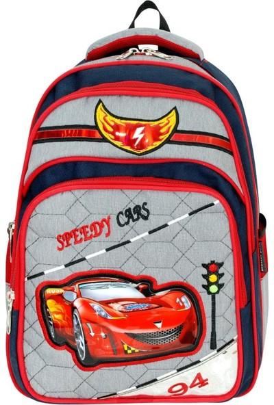 Master Pack Speedy Cars Sırt Çantası Beslenme Çantası Hediyeli 0550