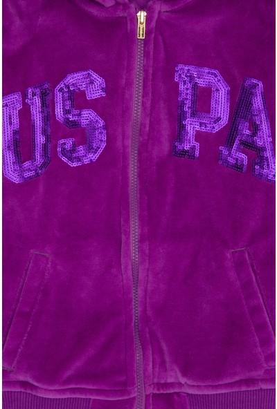 U.S. Polo Assn. Kız Çocuk Mor Sweatshirt 50210572-VR037