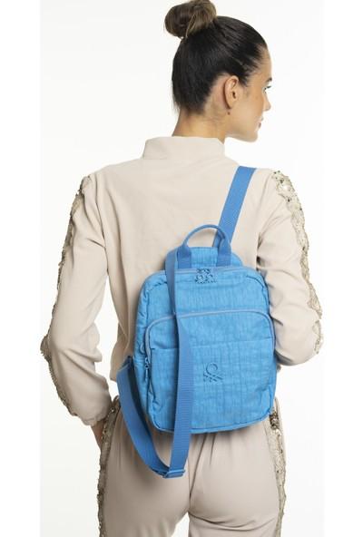United Colors Of Benetton Kadın Sırt Çantası Mavi BNT240