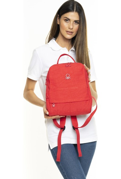 United Colors Of Benetton Kadın Sırt Çantası Kırmızı BNT241