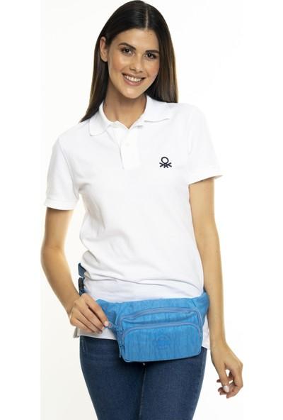 United Colors Of Benetton Kadın Bel Çantası Mavi BNT231