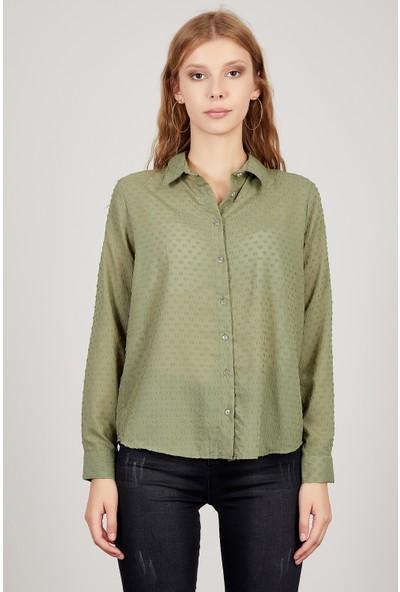 Manche Haki Kadın Gömlek Mk20S162503