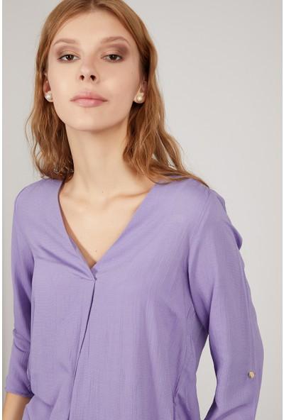 Manche Lila Kadın Gömlek Mk20S162629