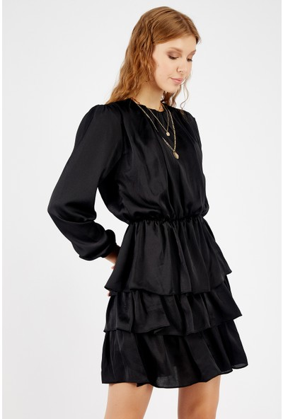 Manche Siyah Kadın Elbise Mk20S282679