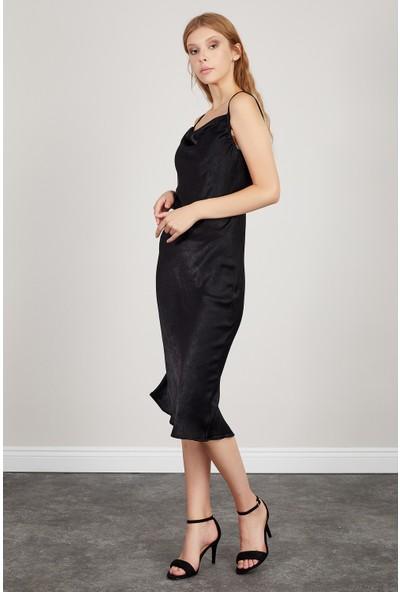 Manche Siyah Kadın Elbise Mk20S282685