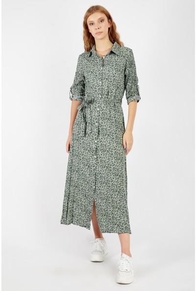 Manche Yeşil Kadın Elbise Mk20S280109