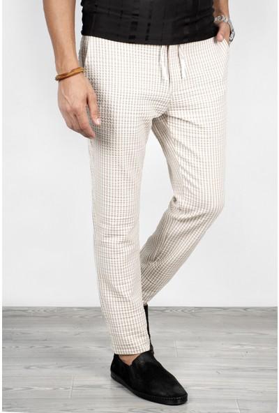 DeepSEA Krem Çizgili Erkek Pantolon 2002651