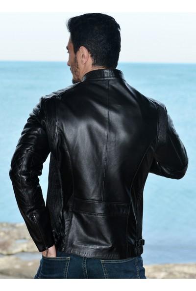 Vira Erkek Deri Ceket ZG3015 Siyah