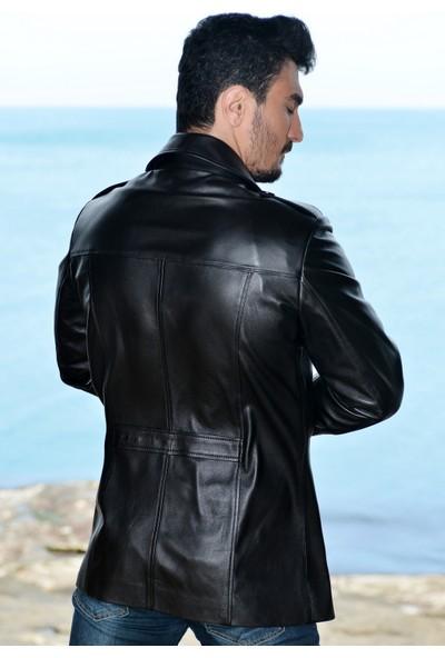 Vira Erkek Deri Ceket ZG3027 Siyah