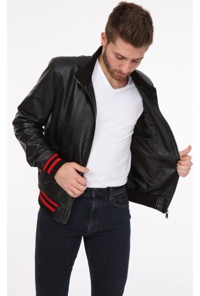 Vira Erkek Deri Ceket ZG7007 Siyah