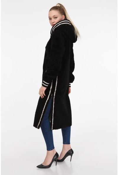 Vira Kadın Deri Kürk Ceket VK7010 Siyah