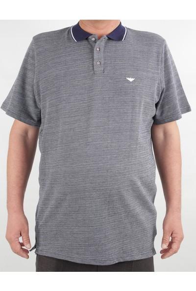 Alexander Gardi Süper Battal Polo T-Shirt Gri (E20-05009) XXXL