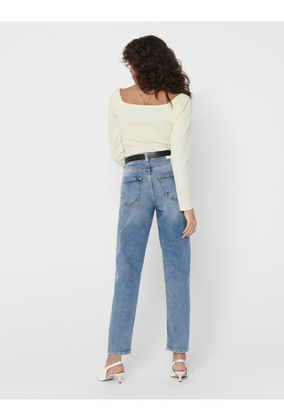 Only 15193864 Kadın Onlveneda Lıfe Mom Jeans Rea7452 Jeans Stretch Denim Pantolon 20Y