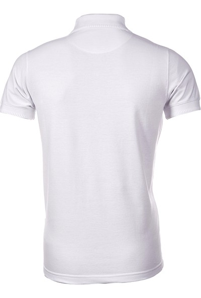 Wgust Antalya Erkek Lacost T-Shirt Beyaz XS