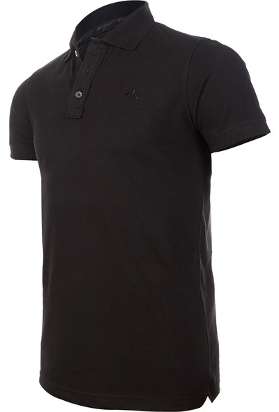 Wgust Antalya Erkek Lacost T-Shirt Siyah XS