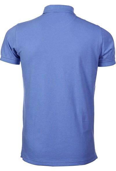 Wgust Antalya Erkek Lacost T-Shirt Mavi XS
