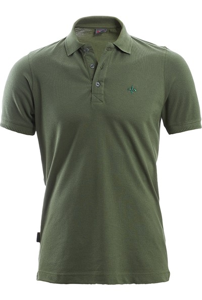 Wgust Antalya Erkek Lacost T-Shirt Haki XS
