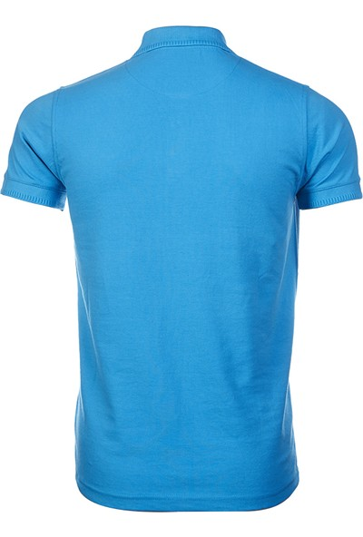 Wgust Antalya Erkek Lacost T-Shirt Turkuaz XS