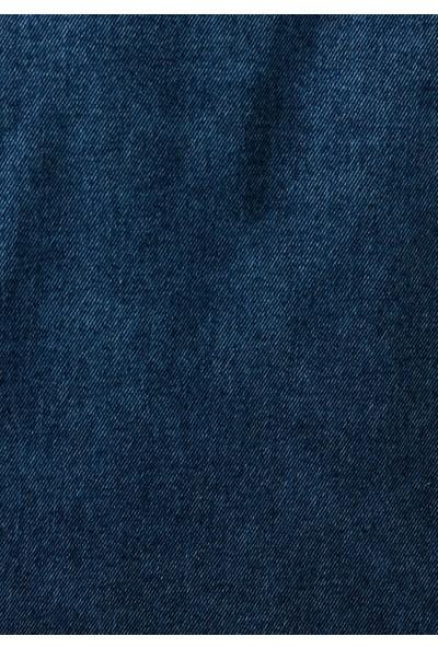 Mavi Team Drake Kapüşonlu Koyu Jean Ceket