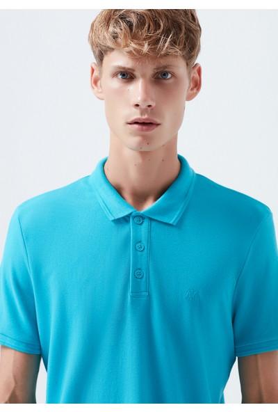 Mavi Koyu Yeşil Polo T-Shirt