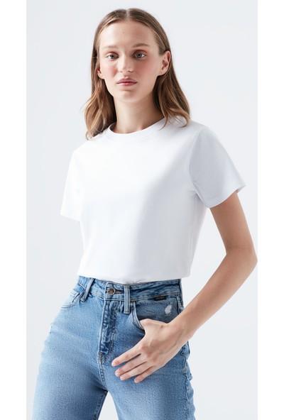 Mavi Beyaz Basic T-Shirt
